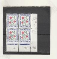 FRANCE Coin Daté   Timbre Taxe Fleurs 1978 Obl - 1970-1979