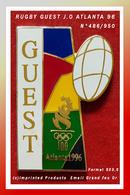 SUPER MAX PIN'S  J.O ATLANTA -Ballon RUGBY : CREATION (c)IMPRINTED PRODUCTS Numéroté N° 486/950 émail Grand Feu 5X3,5cm - Rugby