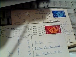 2 CARD STAMP SELO TIMBRE Grèce Hellas 1973 ERUOPA  CEPT 2,50 + 3,00 GX5969 - Storia Postale