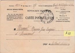 A 69 / Carte Postale Avis / Mobilisation Cavalerie / Recrutement Langres / Pour 70 Bonnevent - Militaria