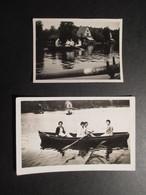 LOT 2 PHOTOS BELGIQUE (M1819) LAC DE GENVAL ? (2 VUES) En Barque Sur Le Lac - Mode