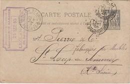 Carte Commerciale 1895 / Entier / Electricité / LECLANCHE / 158 Rue Cardinet Paris - Cartes