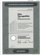 VOLKSWAGEN Aktiengesellschaft; Zehn Vorzugsaktien - Automobile