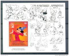 NctA467 WALT DISNEY MICKEY FANTASIA SORCERER'S APPRENTICE MONGOLIA 1991 PF/MNH - Disney