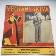 Sweden Veckans Skiva Marlene Dietrich On Cover 1933 Durium SC-141 - 78 T - Disques Pour Gramophone