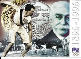 JEUX OLYMPIQUES 1896 1996 - OLYMPICS GAMES - ATLANTA - ATHENES - CENTENAIRE - PIERRE DE COUBERTIN - Jeux Olympiques