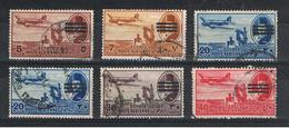 EGITTO:  1953  P.A. SOPRASTAMPATI  -  6  VAL. US. -  YV/TELL. 59//65 - Posta Aerea
