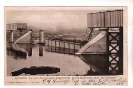 + 1388, Feldpost, Gesprengte Brücke über Den Niemen, Memel, Russland - War 1914-18