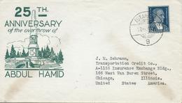 Turchia Turkey 1931 Cover From Istanboul To Illinois,U.S.A - 1921-... República