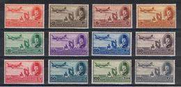 EGITTO:  1947  P.A. DEFINITIVA  -  INSIEME  12  VAL. L. -  YV/TELL. 29/40 - Posta Aerea