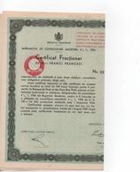 Cpa.Vieux Papiers.Royaume De Roumanie Emprunt De Consolidation Amortissable Certificat Fractionnaire 1934 - Actions & Titres