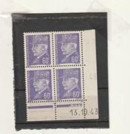 FRANCE Coin Daté  ** N° 509 Pétain - Dated Corners