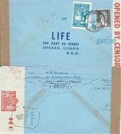 Turchia Turkey 1942 Special Cover (CENSOR) From TOPHANE To Chicago, Illinois, U.S.A - Rare - Usados