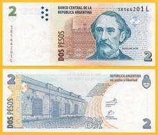 Argentina 2 Pesos P-352 ND (2002) (Suffix L) Sign. Del Pont & Fellner UNC - Argentina