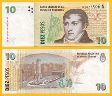 Argentina 10 Pesos P-354 ND (2003) (Suffix N) Sign. Del Pont & Fellner UNC - Argentina