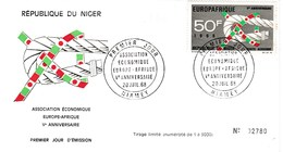 NIGER   THEME EUROPA   EUROPAFRIQUE     Vè ANNIVERSAIRE  29/07/1968 - Niger (1960-...)