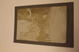 CPA CARTE PHOTO DE VACANCES ANCIENNE CARTONNEE 44 LOIRE ATLANTIQUE GUERANDE 1911 FETE VILLAGE COSTUME FOLKLORE - Guérande