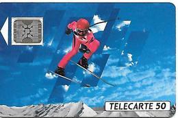 CARTEaPUBLIC-F132B-50U-SC5 On-Trou 6-12/90-SKIEUR 1-5 Imp-22565-UTILISEE-  TBE - France