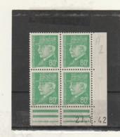 FRANCE Coin Daté  ** N° 511 Pétain 80 Cts - Dated Corners