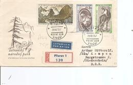 Tchécoslovaquie ( FDC De 1957 Voyagé En Recommandé De Pferov Vers L'Allemagne à Voir) - Tchécoslovaquie