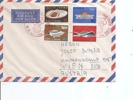 JO De Tokyo -1964 ( Lettre Par Avion Du Japon De 1964 Vers L'Autriche à Voir) - Summer 1964: Tokyo
