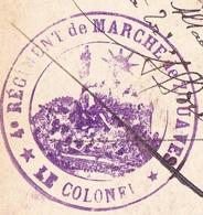 Cachet - 4ème Régiment De Marche De Zouaves Sur Carte Strasbourg - Monument Kléber - Marcofilia (sobres)