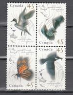 Canada 1995,4V In 4block,birds,vogels,vögel,oiseaux,pajaros,uccelli,aves,MNH/Postfris(L3391) - Oiseaux