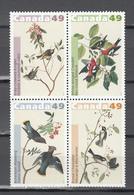 Canada 2004,4V In 4block,birds,vogels,vögel,oiseaux,pajaros,uccelli,aves,MNH/Postfris(L3392) - Vogels