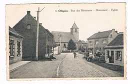 OLLIGNIES . HAINAUT . Rue Des Resistants. Monument Et Eglise En 1955 - Other