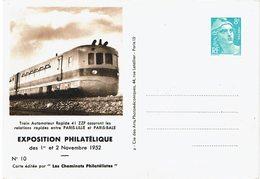 LSAU13 - GANDON 8f TSC CHEMINOTS 1952 - Cartes Postales Types Et TSC (avant 1995)