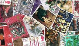 Great Britain LazyBag 1 KG (2LB-3oz) Older Newer OFF PAPER Christmas Ca 10.000 Stamps  KILOWARE GB Xmas - Grossbritannien