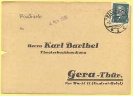 Deutsches Reich - 1930 - 8 - Postkarte - Karl Barthel - Viaggiata Da Reutlingen Per Gera - Germania