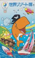 Télécarte Japon / 330-52664 - ANIMAL - DAUPHIN Bateau Zeppelin Montgolfiere - DOLPHIN Balloon Japan Phonecard - 588 - Delphine