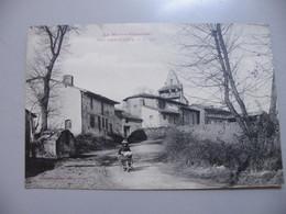 A462..CPA. 31. GRAGNAGUE (Haute-Garonne). Eglise. Beau Plan Animé. écrite 1916 - France
