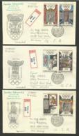 TCHECOSLOVAQUIE / Série Complète / Lot 3 Enveloppes Covers Registered  >>> U.S.A. /  FDC - Zomer 1968: Mexico-City