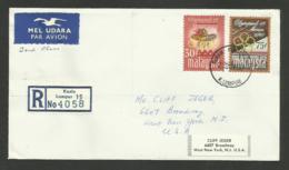 MALAYSIA / Série Complète / Enveloppe Cover Registered  >>> U.S.A. /  FDC - Ete 1968: Mexico