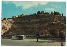 JORDAN - THE ROMAN AMPHITHEATRE / AMMAN - OLD CARS / CIRCULATED FROM BEYROUTH-LIBAN - Giordania