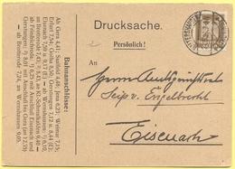 Deutsches Reich - 1926 - 3 - Postkarte - Drucksache - Viaggiata Da Waltershausen Per Eisenach - Deutschland