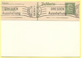 Deutsches Reich - 1930 - Fragment Of Postkarte, Entier Postal + Flamme Dresden Ausstellung - Deutschland