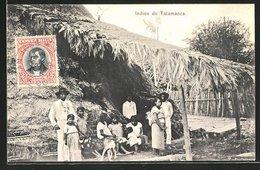 AK Talamanca, Indios Vor Ihren Hütten - Costa Rica
