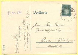 Deutsches Reich - 1930 - 8 - Postkarte - Viaggiata Da Hildburghausen Per Gera - Brieven En Documenten