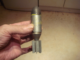 Munition Ancienne Rockette En Alu Démilitarisé Hauteur 12 Cm Diametre 3 Cm - 1939-45