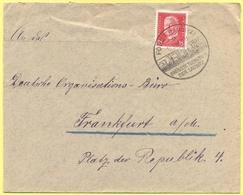 Deutsches Reich - 1929 - 15 + Special Cancel Forst Größte Tuchstadt Der Lausitz - Viaggiata Da Forst Per Frankfurt Am Ma - Deutschland
