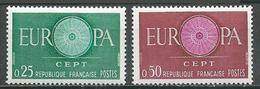 France YT N°1266/1267 Europa 1960 Neuf ** - Neufs