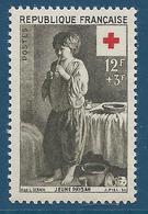 FRANCE 1956 - YT N°1089 - 12 F. + 3 F. Brun-olive - Au Profit De La Croix-Rouge - Jeune Paysan - Neuf** - TTB Etat - Nuevos