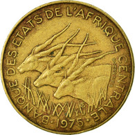 Monnaie, États De L'Afrique Centrale, 10 Francs, 1975, Paris, TB - Centrafricaine (République)