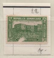 Dom. Rep 1928 MiNr.: 216 Gestempelt Leicht Beschädigt Mit Falz; Scott 247, Yt:221 Used Hinged - Dominicaine (République)