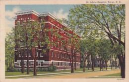 North Dakota Fargo St John's Hospital 1944 Curteich