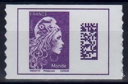 FRANCE 2018 / Marianne L'engagée-20g MONDE / En Adhésif Bord De Feuille NEUF - 2018-... Marianne L'Engagée