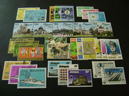 Malaysia 1975-1978 Complete Stamp Issues (SG 128-189) 2 Images - Used - Malaysia (1964-...)